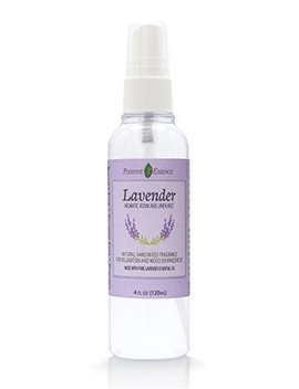 Positive Essence Lavender Linen & Room Spray   Natural Aromatic Mist Made With Pure Lavender Essential Oil   Relax Your Body & Mind – Refreshing Non Toxic Air Freshener Odor Eliminator by Positive Essence