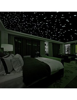 Realistic 3 D Domed Glow In The Dark Stars,606 Dots For Starry Sky, Perfect For Kids Bedding Room Gift(606 Stars) (Green) by Da Gou