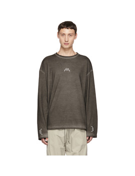 Grey Bracket Logo Long Sleeve T Shirt by A Cold Wall*