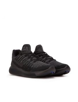 Nike Lunarepic Low  Flyknit 2 Running Shoes Women 8.5 863780 004 Black Gray by Nike