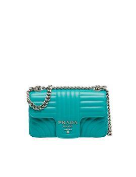 Prada Diagramme Leather Shoulder Bag by Prada