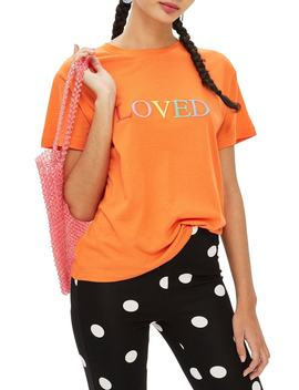 loved-embroidered-tee by topshop