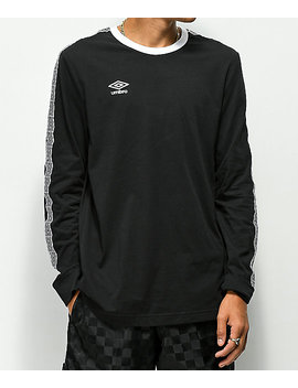 Umbro Diamond Black Long Sleeve T Shirt by Umbro
