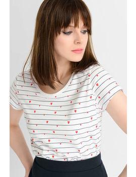 Tričko S Proužkem A Srdíčky by Orsay