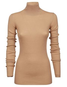 Jil Sander Navy Ribbed Turtleneck Sweater by Jil Sander Navy