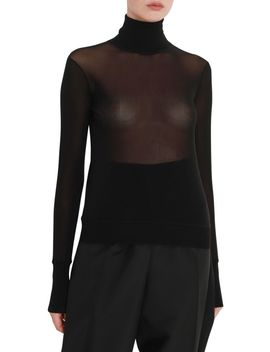 Jil Sander See Through Turtleneck by Jil Sander