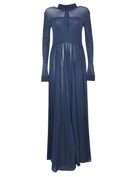 Jil Sander Gathered Crepe Maxi Dress by Jil Sander