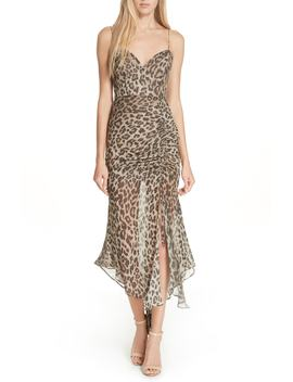 Leopard Print Silk Midi Dress by Nicholas