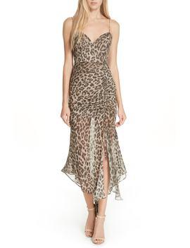Leopard Print Silk Midi Dress by Nicholas