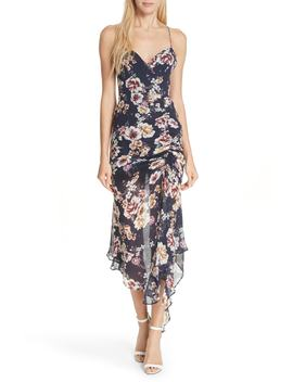 garden-rose-silk-midi-dress by nicholas