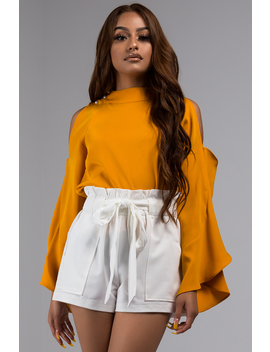 Amiee Cold Shoulder Blouse by Akira