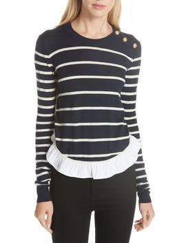 ollie-ruffle-hem-sweater by veronica-beard