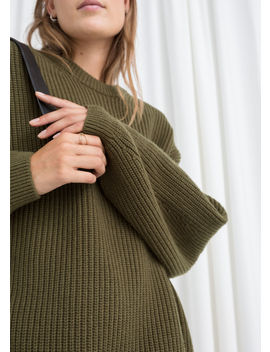 Oversized Wool Blend Sweater by & Other Stories