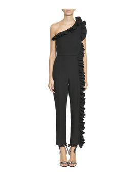 Msgm Ruffled Crepe Jumpsuit by Msgm
