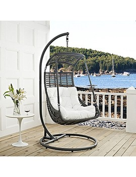 Modway Jungle Patio Stand Alone Swing Chair In White by Bed Bath And Beyond