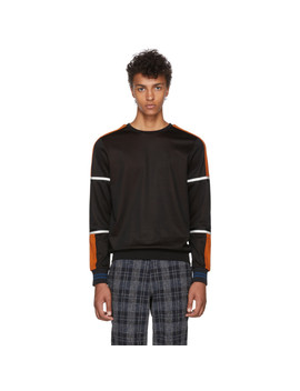 Black & Orange Technical Sweatshirt by Ps By Paul Smith