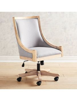 Linen Gray Desk Chair by Devon Collection