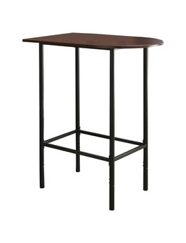 Monarch Specialties Metal Space Saver Bar Table, 24 By 36 Inch, Cappuccino/Black by Monarch Specialties