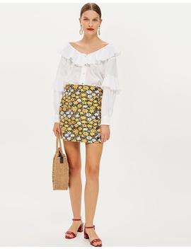 Daisy Button Jacquard Mini Skirt by Topshop