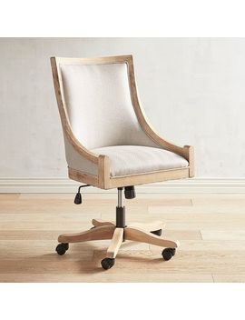 Flax Desk Chair With Stonewash Wood by Devon Collection