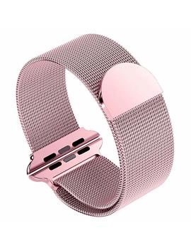 Siruibo Band For Apple Watch 38mm, Stainless Steel Mesh Milanese Loop With Magnetic Closure Clasp Replacement Wrist Band Bracelet For Apple Watch I Watch Series 3/2/ 1 Nike+ Edition, Silver by Siruibo