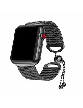 Ancool For Apple Watch Bracelet Stainless Steel Milanese Loop Chain Wrist Band For Apple Watch Series 3, Series 2, Series 1 (42mm Silver) by Ancool