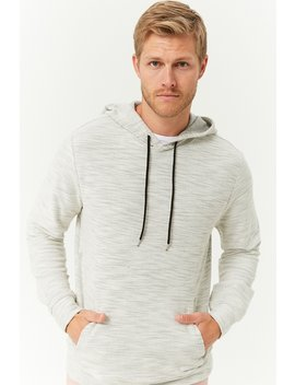 Heathered Drawstring Hoodie by Forever 21