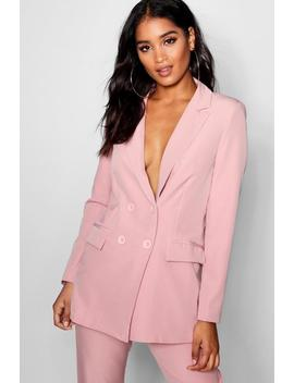 Longline Double Breasted Jacket by Boohoo