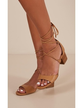 Verali   Elki Heels In Tan by Showpo Fashion