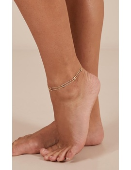Au Revoir Anklet In Gold by Showpo Fashion