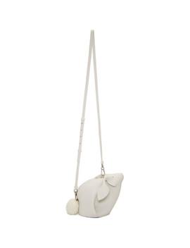 White Mini Bunny Bag by Loewe