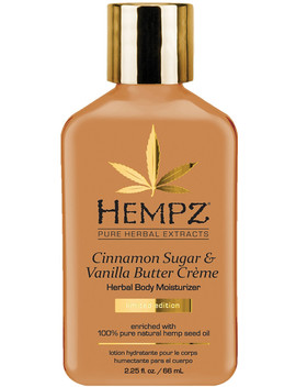 Travel Size Cinnamon Sugar & Vanilla Butter Crème Herbal Body Moisturizer by Hempz