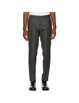 Black & Grey Check Genesis 4 Trousers by Boss