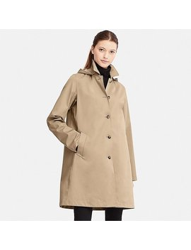 Women Blocktech Soutien Collar Rain Coat by Uniqlo