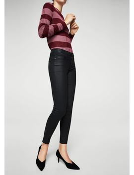 Skinny Belle Jeans Premazane Voskom by Mango