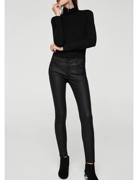 Kim Skinny Push Up Jeans Hlače S Premazom by Mango