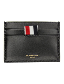 Ssense Exclusive Black Embossed Toy Icon Single Card Holder by Thom Browne
