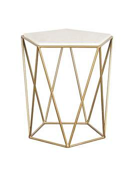 Charter Marble Side Table by Dunelm