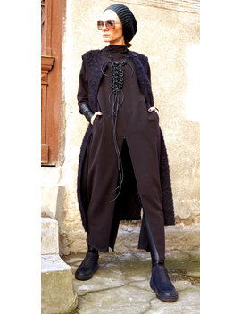 Neue Kollektion Schwarz Extravagante Leder Makramee Halskette Von Aakasha A16186 by Aakasha
