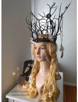 Oberon Krone Krone Wald Hexe Heidnischen Krone Hedge Waldhexe Strega Gothic Kopfschmuck Heidnischen Stirnband Elfen Krone Tranduil Halloween Kostüm by Folle Fee