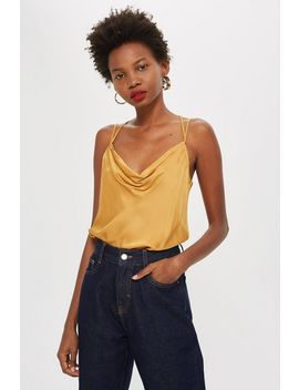 Satin Cowl Neckline Cami Top by Topshop