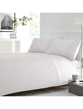Waffle White Duvet Cover And Pillowcase Set by Dunelm