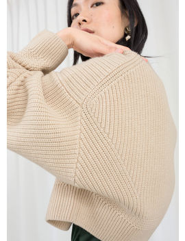 Cropped Wool Blend Sweater by & Other Stories