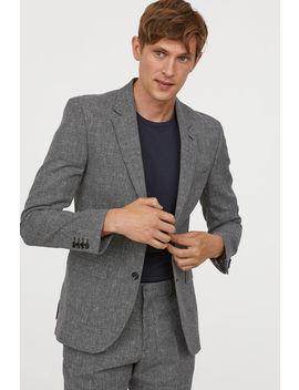 Wool Blend Jacket Slim Fit by H&M
