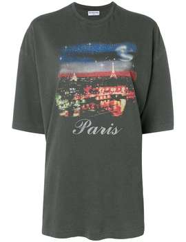 Oversized Paris Printed T Shirt by Balenciaga