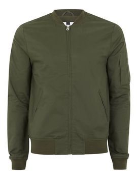 Khaki Stretch Bomber Jacket by Topman