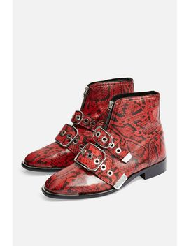 Alex Front Zip Boots by Topshop