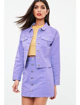 Purple Regular Denim Jacket by Missguided