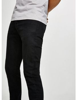 Black Stretch Slim Jeans by Topman