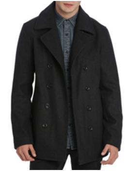 Wardour Melton Pea Coat by Kenji